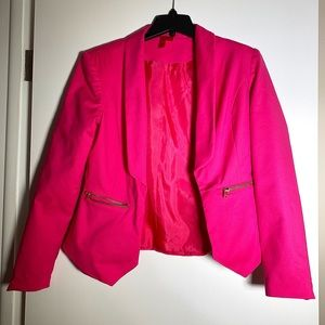 HOT PINK BLAZER BY FOREVER 21